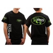 Bravo Baits Team póló - fekete