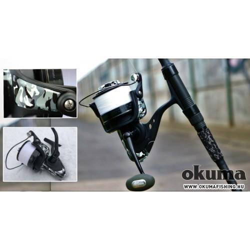 OKUMA Custom Black White Camo orsó 60-s