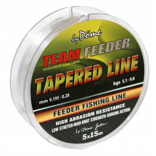 By Döme TF Tapered Leader 15m x5 0.18-0.20